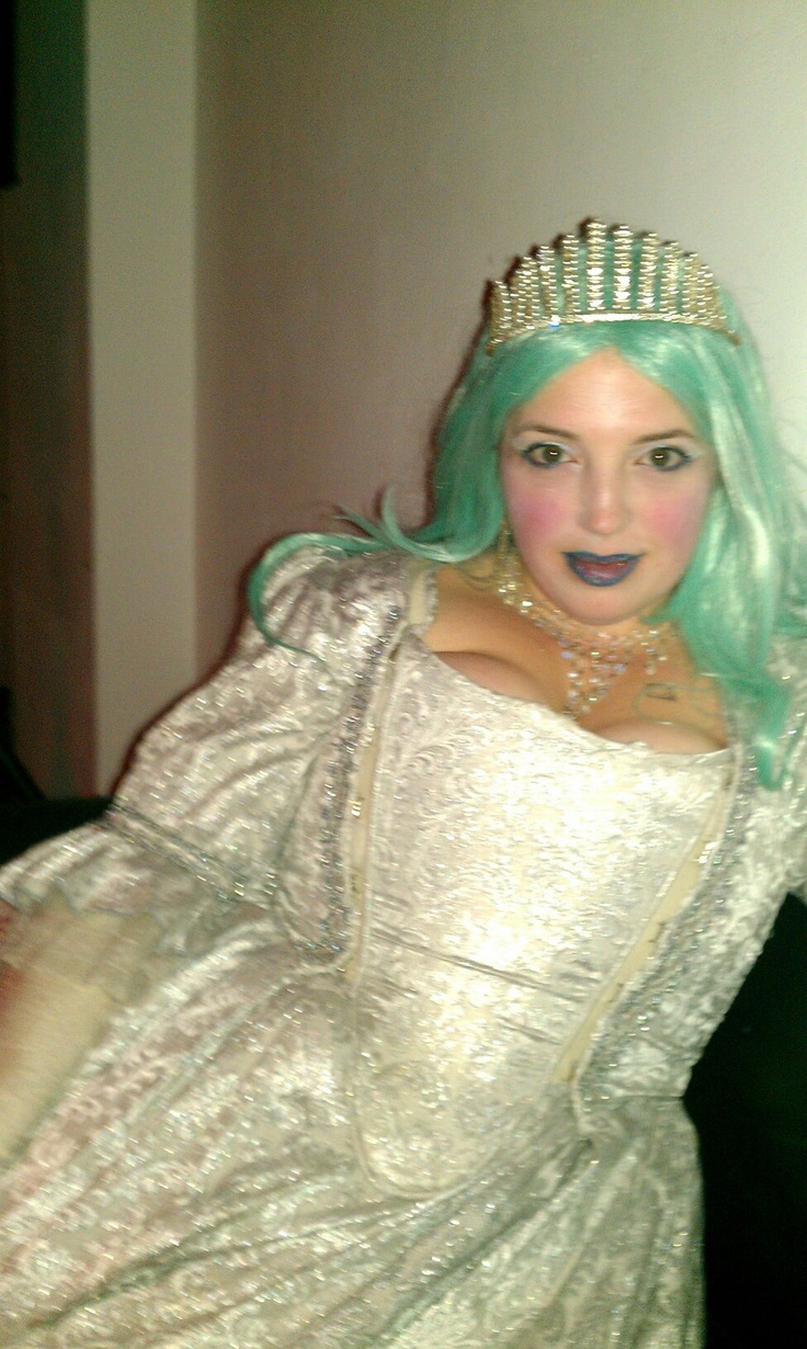 Becca's Snow Queen - dress hired from Angels Fancy Dress in London