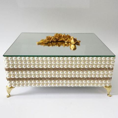 Krabička na šperky * skleněná s perličkami.