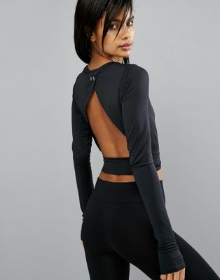 Under Armour Crop Top With Open Back