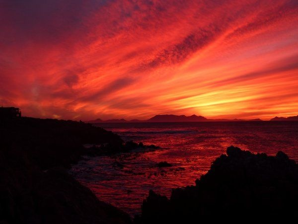 """""""Sunset over Pringle Bay, Western Cape: photo by Andrew James"""""""