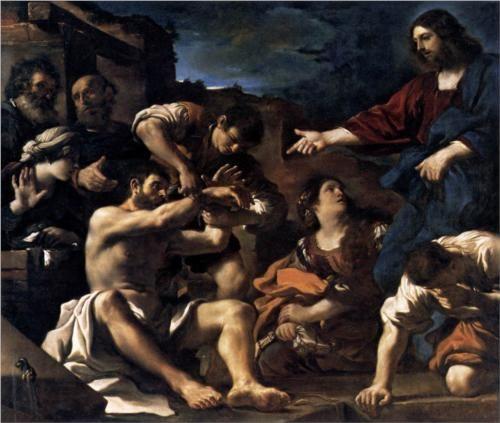 Raising of Lazarus  - Guercino