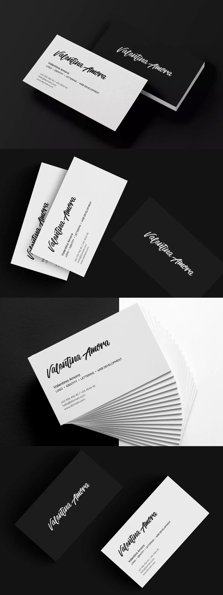 137 best business card template images on pinterest business card minimal freelance business card template psd wajeb Images