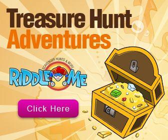 Treasure hunt list for around the neighborhood.