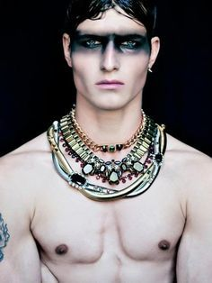 high fashion makeup for men - Google Search