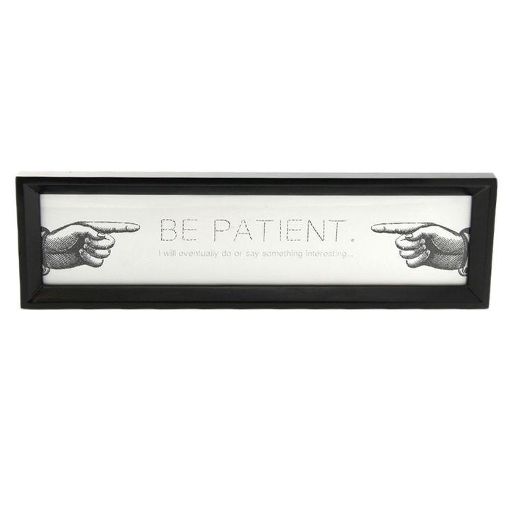 Bilde Be patient