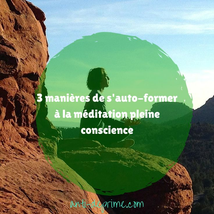 Je vous invite à découvrir les trois manières que j'ai utilisées pour me former à la pleine conscience.