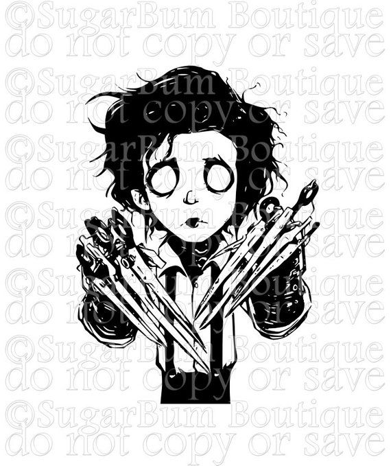 Edward Scissorhands Svg With Images Edward Scissorhands