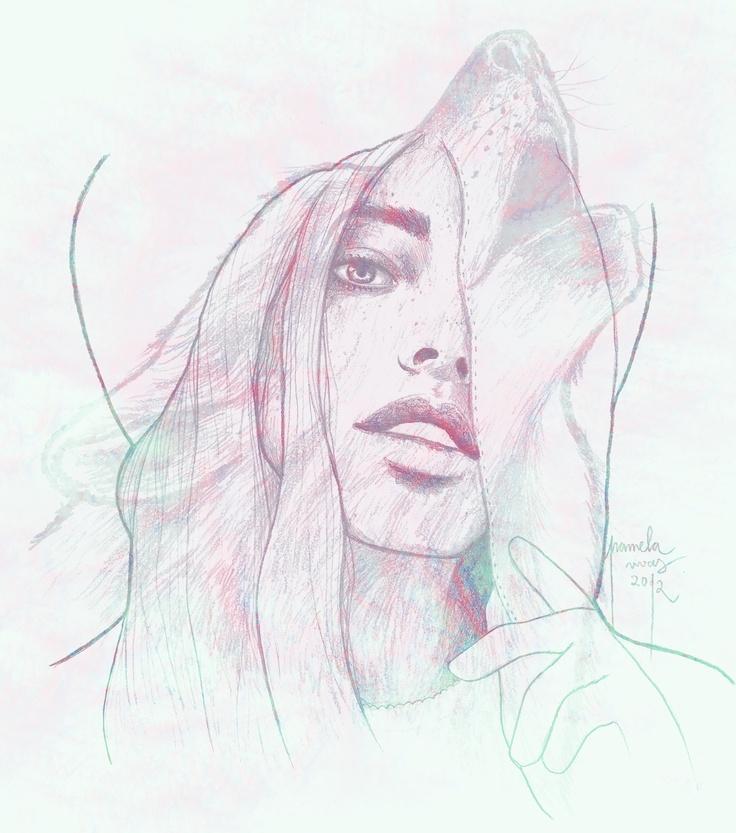Illustration Wolf by Pamela Rivas