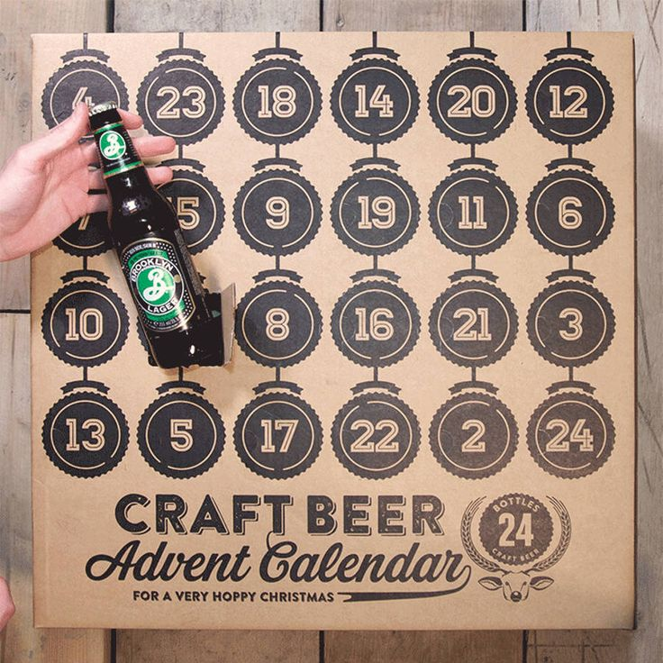 Craft Beer Advent Calendar with Beer- very cool idea for beer lovers- but you'd have to find one that sells to Canadians- or make one yourself!