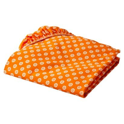 Oliver B Crib Sheet - Orange Mod Dots