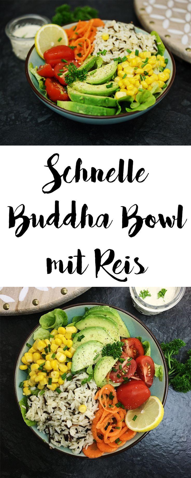Die vegane Buddha Bowl mit Avocado und Wildreis ist sehr einfach in der Zubereit… – Buddha Bowl Rezepte