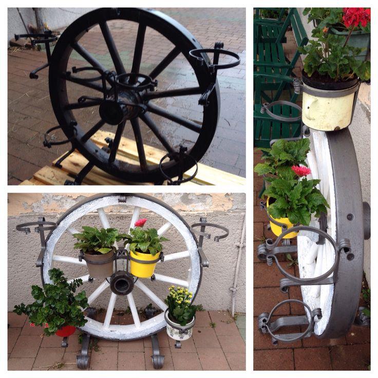 die 25+ besten wagenräder ideen auf pinterest | wagenrad dekor ... - Garten Und Landschaftsbau Vorher Nachher