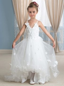 898fa9ec78 Charmig Spaghetti Straps Asymmetry Flower Girl Dress I love this dress. And  You