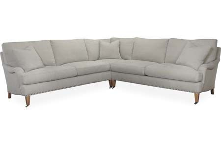 Classic style -- perfect for modern or traditional spaces Lee Industries: 1673-Series Sectional Series
