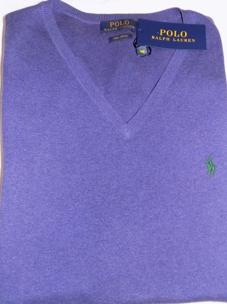 ralph lauren purple sweater cotton mesh polo