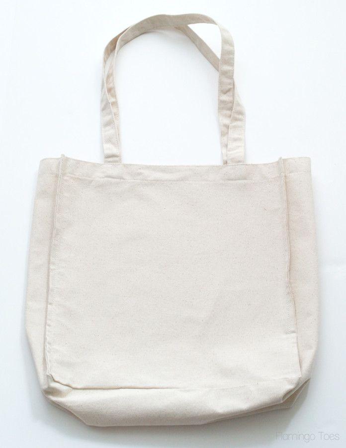 plain canvas tote bag
