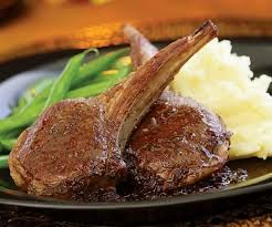Image result for lamb chops juicy gravy