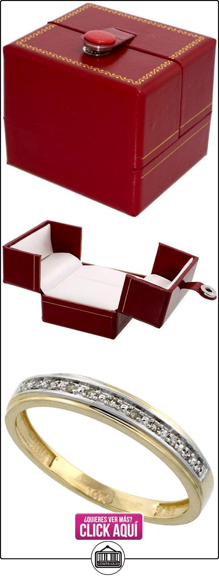 Revoni - Juego de alianzas de oro amarillo con diamante  ✿ Joyas para hombres especiales - lujo ✿ ▬► Ver oferta: http://comprar.io/goto/B005M37EVI