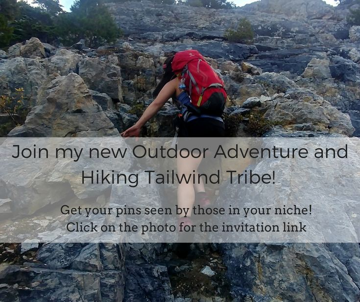 My new tailwind tribe is all about outdoor adventure, hiking and camping! Join if this applies to you and let's share some great content.