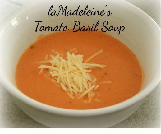 la Madeleine's Tomato Basil Soup...Ultimate comfort food!  YUM!  Plus, so easy!