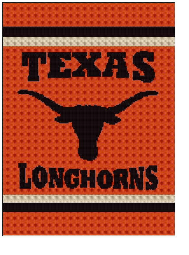 Crochet Pattern For Texas Longhorn Afghan : 17 Best images about Longhorn insanity on Pinterest ...