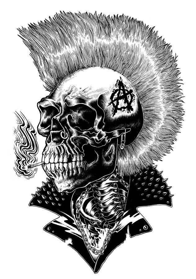 череп панк картинки удобен