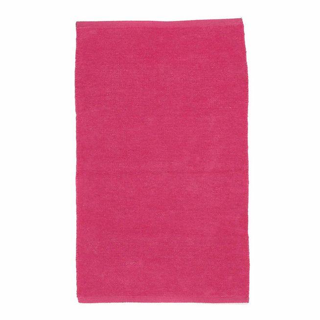 Prem's Tapis chenille en coton rose 50x80cm