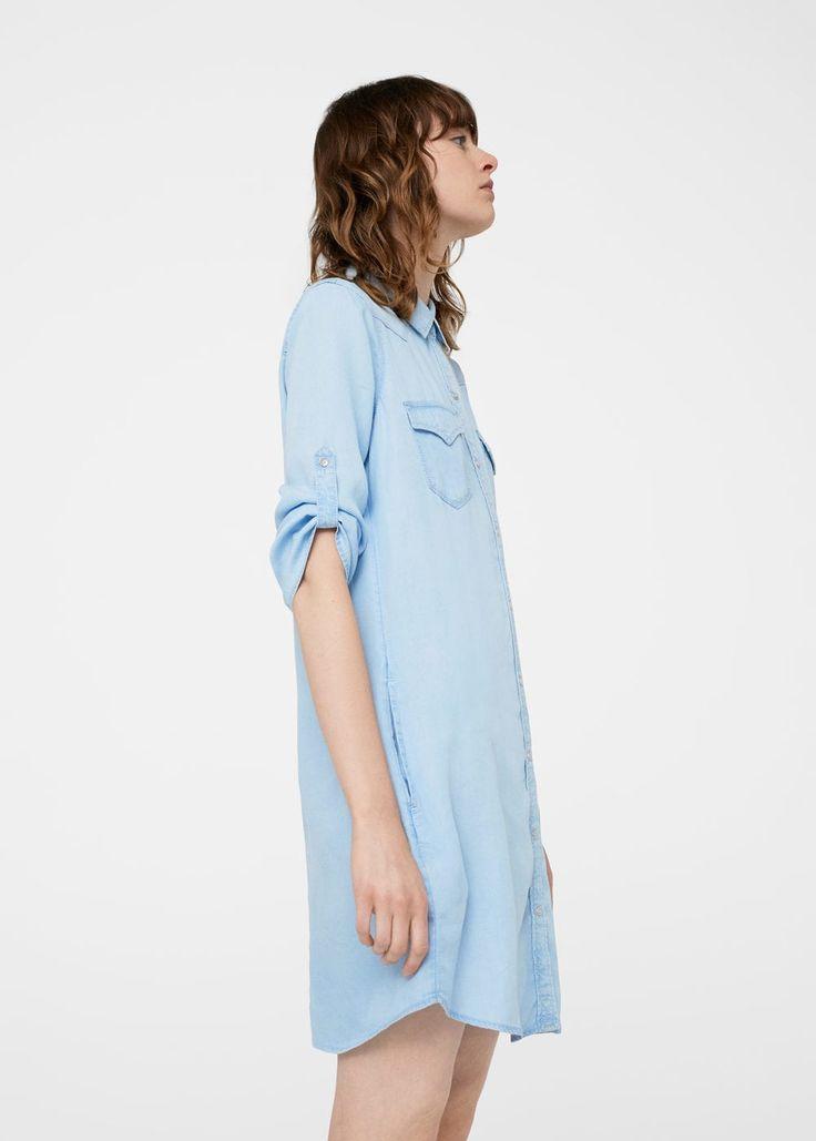 Kot gömlek elbise | MANGO