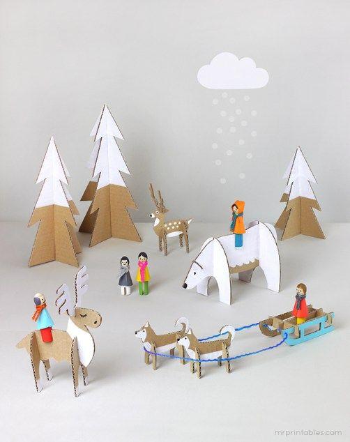 Decoracion Invierno Manualidades ~   Decoraciones De Invierno en Pinterest  Navidad, Manualidades Papel De