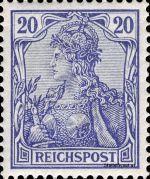 20 Pfennig - Michel Nr. 57 - Stamp Values: * 13€ / Ø 2.50€