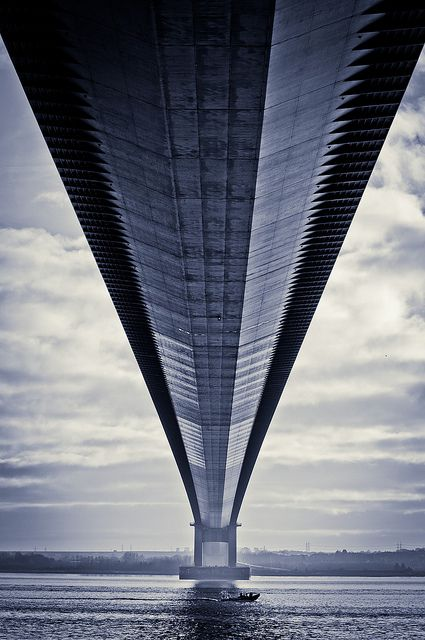 Humber Bridge near Kingston upon Hull, UK.