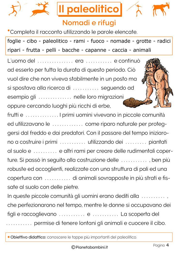 Exceptionnel Il Paleolitico: Schede Didattiche per la Scuola Primaria SZ18