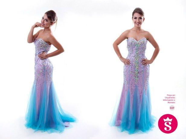 327 - Vestido Longo Rosa de Pedraria #vestidolongo #vestidorosa