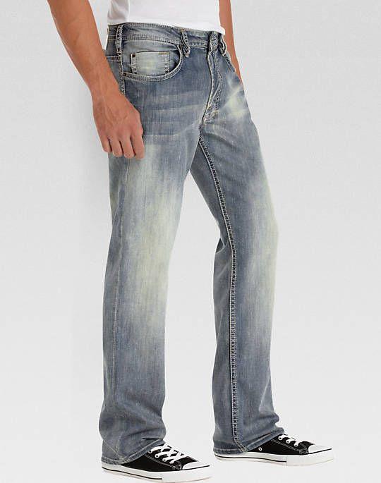Buffalo David Bitton, Light Blue Distressed, Classic Fit Jeans - Mens Home - Men's Wearhouse