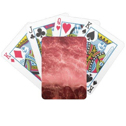 red ocean splash bicycle playing cards  $23.70  by violet_accessories  - custom gift idea