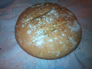 Pan de pueblo con orégano