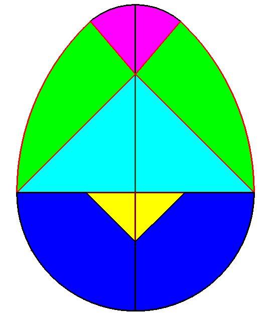 Atividade artística Educação Infantil ovo Tangram Homeshcooling.