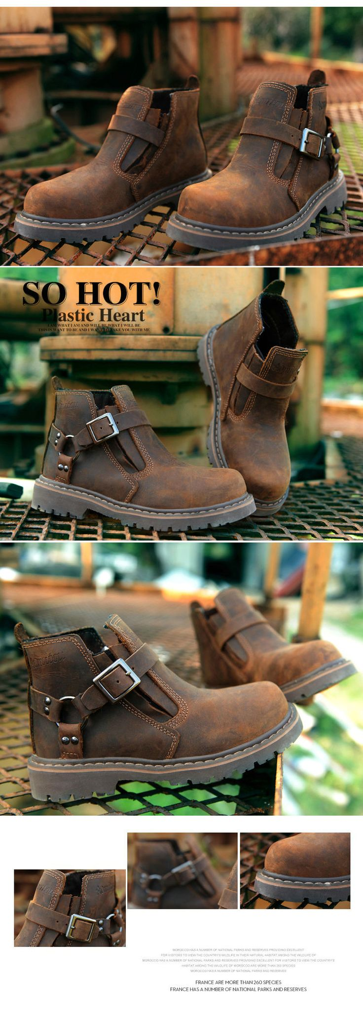 Fall New England Lun Mading soled boots lesbian boots tooling leather hiking boots fashion high shoes shoes - Taobao