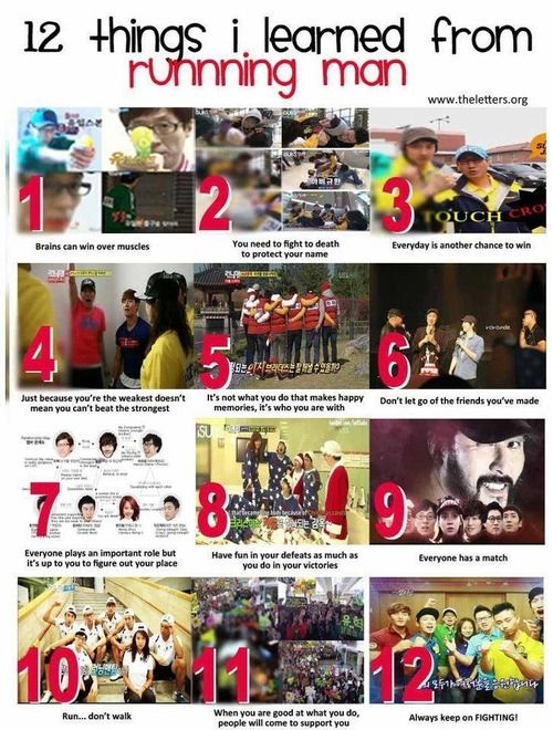 12 things I learned from Running Man