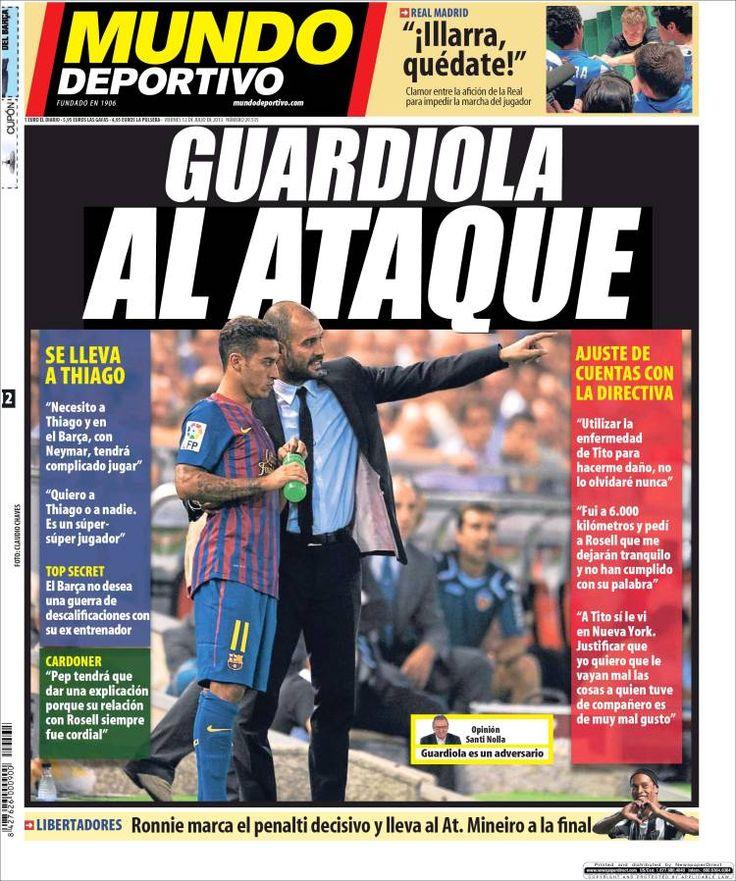Los Titulares y Portadas de Noticias Destacadas Españolas del 12 de Julio de 2013 del Diario Mundo Deportivo ¿Que le parecio esta Portada de este Diario Español?