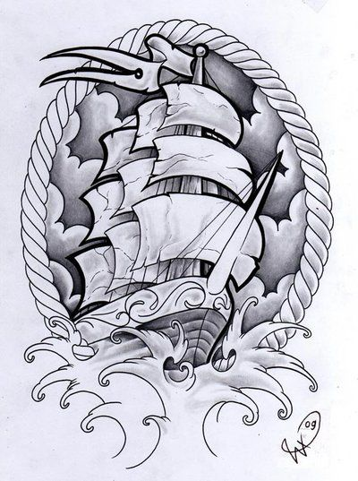 Death Fresh ship by Willem Ship - custom design commissioned for Death Fresh shirts.