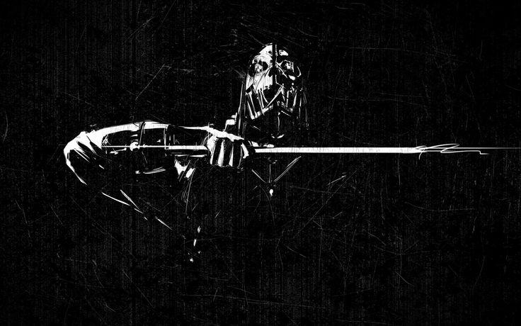 Ninja Fighter Abstract Wallpaper