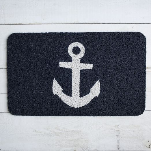 Welcome visitors with this cheerful Anchor Door Mat. Its rugged texture wipes shoes clean while its non-slip backing keeps it in place.