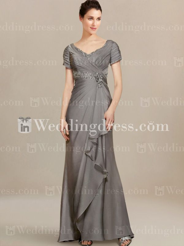 Modern Mother of Bride Dresses with Cascade Skirt MO214