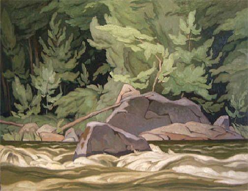 Artist: A.J. Casson, Title: PALMER RAPIDS - 20 x 26 oil on masonite (1962)
