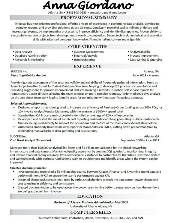 40 best Resume Writing and Design images on Pinterest Resume - hedge fund administrator sample resume