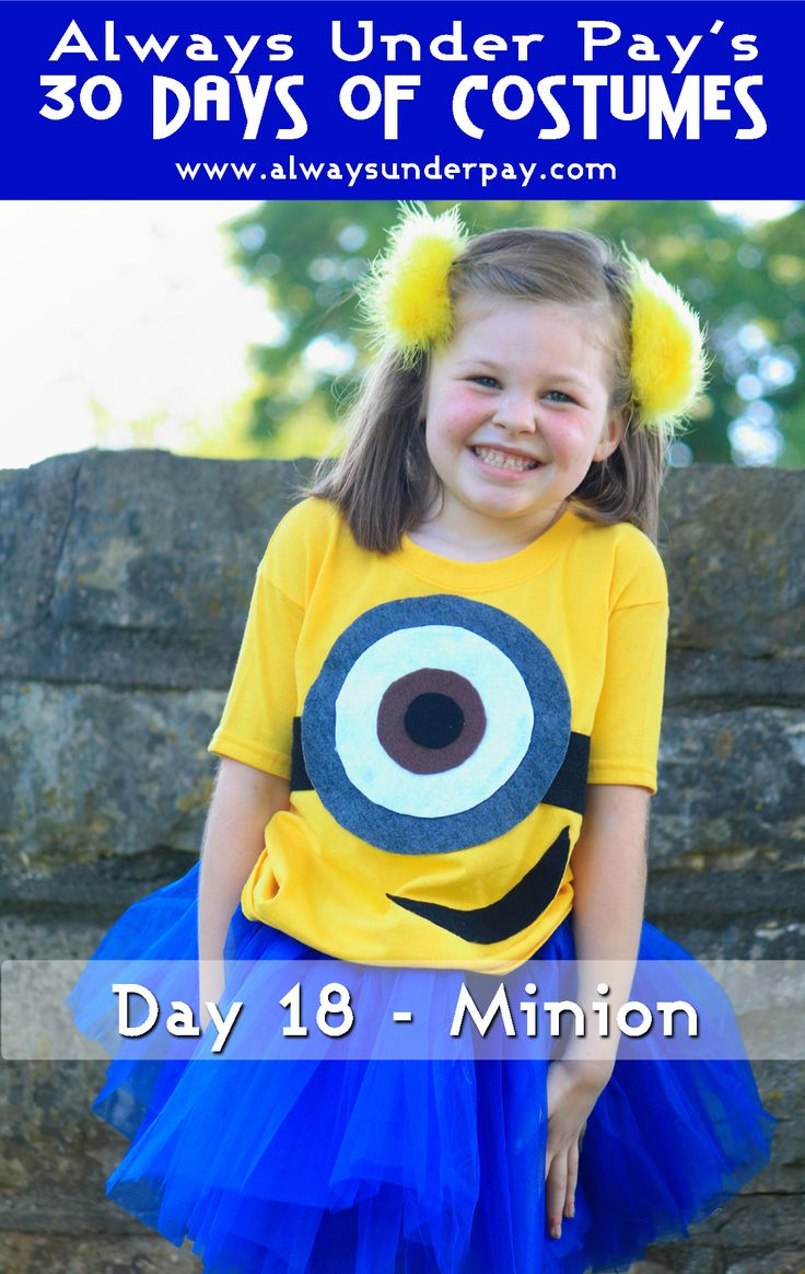 day 18 minion diy halloween costume tutorial cheap easy - Tough Girl Halloween Costumes