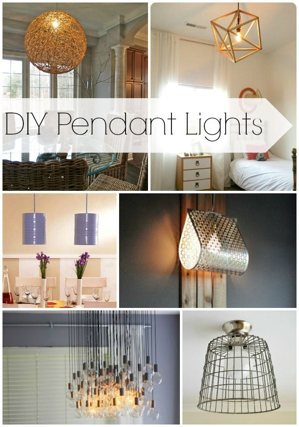 DIY Pendant Lights. Tons of great ideas.