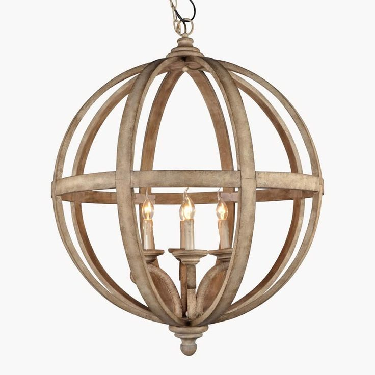 Wooden Orb Lighting at Cowshed Interiors