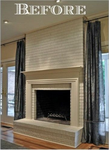 Fireplace And Mantel Makeover Mantels Brick Fireplaces